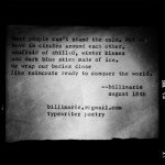 """Winter Kisses"" by billimarie (typewriter poetry)"