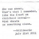 """Snowy"" by billimarie Typewriter Poetry"