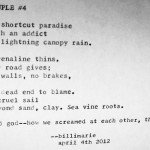 """Couple #4"" by billimarie - typewriter poetry"